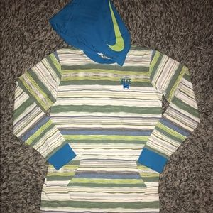 Nike long sleeve hoodie tee shirt L boys